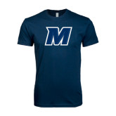 Next Level SoftStyle Navy T Shirt-M