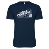 Next Level SoftStyle Navy T Shirt-2019 MAAC Softball Champions