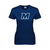 Ladies Navy T Shirt-M