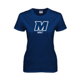 Ladies Navy T Shirt-Golf