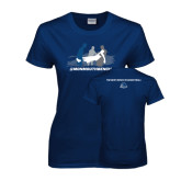 Ladies Navy T Shirt-The Gives Me Life
