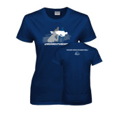 Ladies Navy T Shirt-The Big Catch