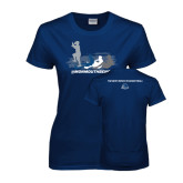 Ladies Navy T Shirt-The Pirate Ship