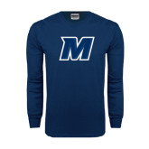 Navy Long Sleeve T Shirt-M