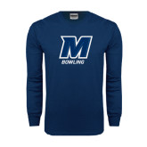 Navy Long Sleeve T Shirt-Bowling