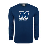 Navy Long Sleeve T Shirt-Pep Band