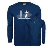 Navy Long Sleeve T Shirt-The Human Loop
