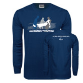 Navy Long Sleeve T Shirt-The Gives Me Life