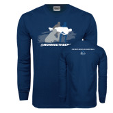 Navy Long Sleeve T Shirt-The Big Catch