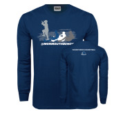 Navy Long Sleeve T Shirt-The Pirate Ship