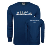 Navy Long Sleeve T Shirt-Monmouth Bench 4 Celebrations