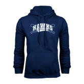Navy Fleece Hood-Cross Bats Design