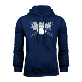 Navy Fleece Hood-Cross Bats Softball Design