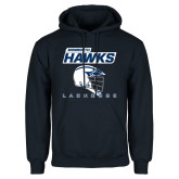 Navy Fleece Hood-Lacrosse Helmet Design