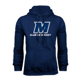 Navy Fleece Hood-Club Ice Hockey