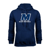 Navy Fleece Hood-Club Baseball