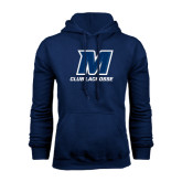Navy Fleece Hood-Club Lacrosse