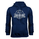 Navy Fleece Hood-2017 MAAC Regular Season Basketball Champions Banner