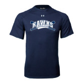 Under Armour Navy Tech Tee-Cross Bats Design