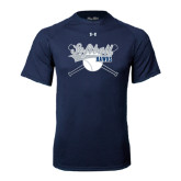 Under Armour Navy Tech Tee-Cross Bats Softball Design