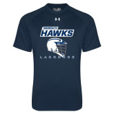 Under Armour Navy Tech Tee-Lacrosse Helmet Design
