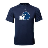 Under Armour Navy Tech Tee-Hawk with M