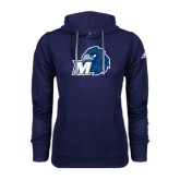 Adidas Climawarm Navy Team Issue Hoodie-Hawk with M