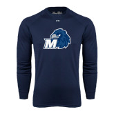 Under Armour Navy Long Sleeve Tech Tee-Hawk with M