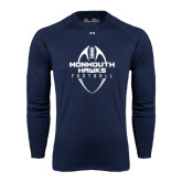 Under Armour Navy Long Sleeve Tech Tee-Tall Football Design