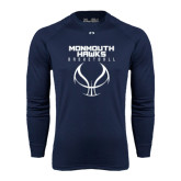 Under Armour Navy Long Sleeve Tech Tee-Stacked Basketball Design