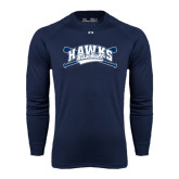 Under Armour Navy Long Sleeve Tech Tee-Cross Bats Design