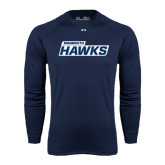 Under Armour Navy Long Sleeve Tech Tee-Monmouth Hawks
