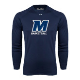 Under Armour Navy Long Sleeve Tech Tee-Basketball