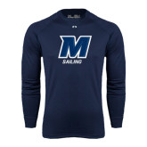 Under Armour Navy Long Sleeve Tech Tee-Sailing