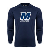 Under Armour Navy Long Sleeve Tech Tee-Athletics