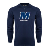 Under Armour Navy Long Sleeve Tech Tee-Pep Band