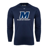 Under Armour Navy Long Sleeve Tech Tee-Club Ice Hockey