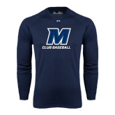 Under Armour Navy Long Sleeve Tech Tee-Club Baseball