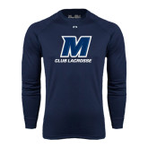 Under Armour Navy Long Sleeve Tech Tee-Club Lacrosse