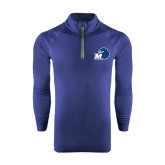 Under Armour Navy Tech 1/4 Zip Performance Shirt-Hawk with M