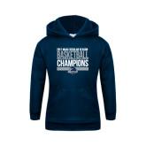 Youth Navy Fleece Hoodie-2017 MAAC Regular Season Basketball Champions Stacked