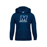 Youth Navy Fleece Hood-Track and Field