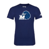 Adidas Navy Logo T Shirt-Hawk with M