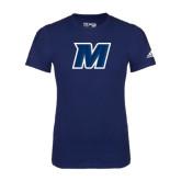 Adidas Navy Logo T Shirt-M