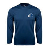 Syntrel Performance Navy Longsleeve Shirt-Hawk with M