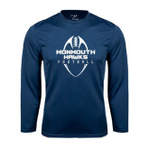 Syntrel Performance Navy Longsleeve Shirt-Tall Football Design