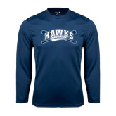 Syntrel Performance Navy Longsleeve Shirt-Cross Bats Design