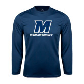 Syntrel Performance Navy Longsleeve Shirt-Club Ice Hockey
