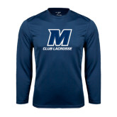 Syntrel Performance Navy Longsleeve Shirt-Club Lacrosse
