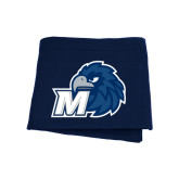 Navy Sweatshirt Blanket-Hawk with M